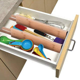 Related lebeauty drawer dividers bamboo kitchen organizers spring adjustable expendable best for kitchen dresser bedroom baby drawer bathroom and desk beige set of 4