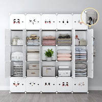 Save on yozo modular closet portable wardrobe dreeser organizer clothes storage organizer chest of drawers cube shelving for teens kids diy furniture white 8 cubes