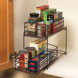 Cheap seville classics 2 tier sliding basket drawer kitchen counter and cabinet organizer bronze