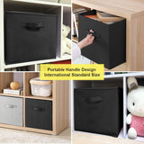 Organize with ximivogue foldable cube storage bin foldable cloth storage cube basket bins boxes organizer containers drawers non lids with handle for nursery home 3 pack black