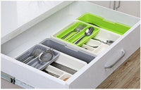Discover the best stock show expandable stackable movable adjustable plastic cutlery tray kitchen utensil drawer organizer tableware holder silverware storegrey