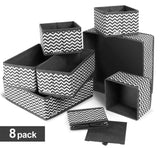 Buy ilauke drawer underwear organizers storage box foldable closet dresser drawers divider organizer fabric cloth basket bins for sock bras baby clothes set of 8 grey