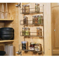 Knape & Vogt SR18-1-FN Door-Mounted Spice Rack Cabinet Organizer, 20-Inch by 13.81-Inch by 3.94-Inch