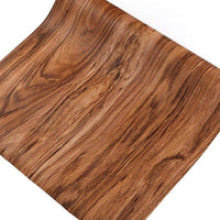 Buy f u walnut wood grain contact paper self adhesive shelf liner covering for kitchen cabinets doors drawers countertop arts and crafts 23 5x78 inch