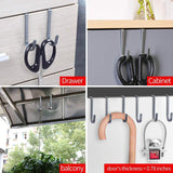 Buy now fle over cabinet door hook stainless steel multipurpose s hook over the door hook use for kitchen cabinet drawer bathroom wardrobe office 10 pack