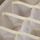 Top rated tenabort foldable drawer organizer dividers cloth storage box closet dresser organizer cube fabric containers basket bins for underwear bras socks panties lingeries nursery baby clothes beige 4 pack