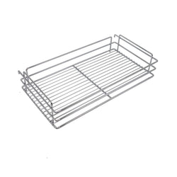 10x18.5x25.9 Inch Cabinet Pull-Out Chrome Wire Basket Organizer 3-Tier Cabinet Spice Rack Shelves Full Pullout Set