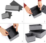 Cheap ilauke drawer underwear organizers storage box foldable closet dresser drawers divider organizer fabric cloth basket bins for sock bras baby clothes set of 8 grey