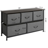 On amazon marble field 3 tier dresser drawer nightstands storage organizer dresser tower with 5 easy pull drawers and metal frame for your bedroom nursery closet entryway grey 32 37x11 31x29 84