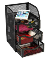 Purchase mind reader mini desk supplies office supplies organizer 3 drawers 1 top shelf black