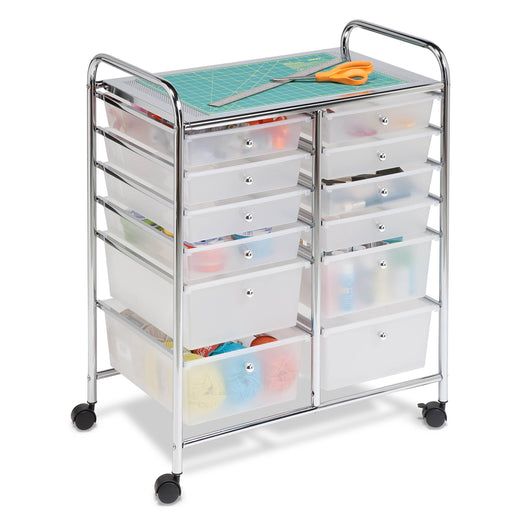 Shop honey can do rolling storage cart and organizer with 12 plastic drawers