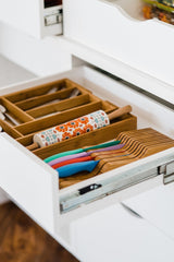 Results totally bamboo expandable drawer organizer 8 compartments for cutlery utensils and more