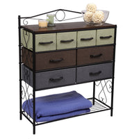 Budget friendly household essentials victorian 8 drawer chest storage dresser or entryway table black