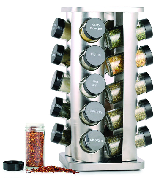 Orii GSR3421 Rivetto Rotating Spice Rack Steel with black caps