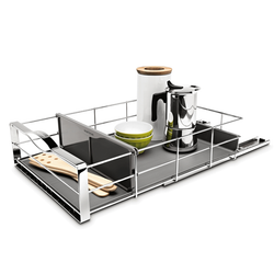 Divided Pull-Out Cabinet Organizer