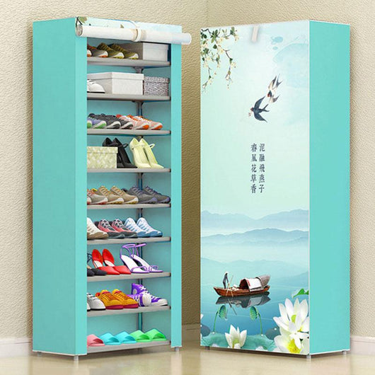 Modern Multi-layer DIY Cabinet Dustproof Fabric Shoe Storage  Folding Organizer