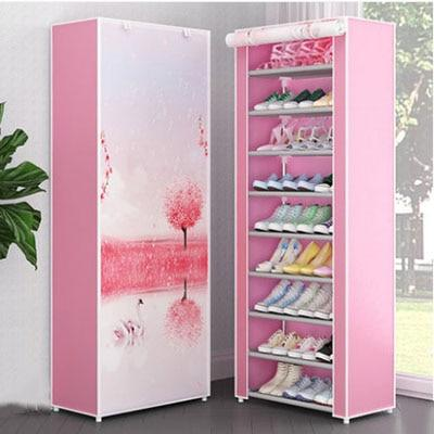 10 Layers 9 Grids Cloth Shoe Storage  Rack Dustproof Assembly  Home Orgnization