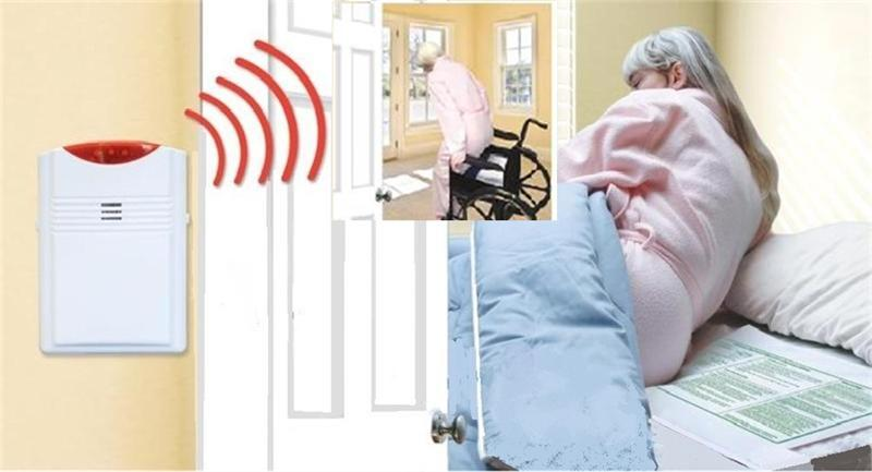 Package 4 - Cordless Bed & Chair Alarm System (Alarm Away from Patient) - 10'' x 30'