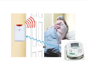 Package 18 - Motion Sensor with Remote Alarm - (Alarm Away from Patient) - With 2 AC Adapters (+$19.