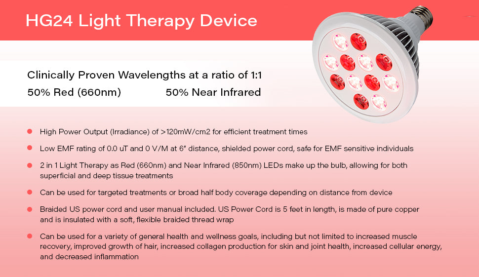 HG24 Red Light Therapy Device