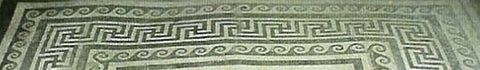 Floor mosaic key pattern and spirals, Pompeii