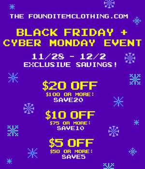 Black Friday + Cyber Week Sale!  Get your coupon codes here!