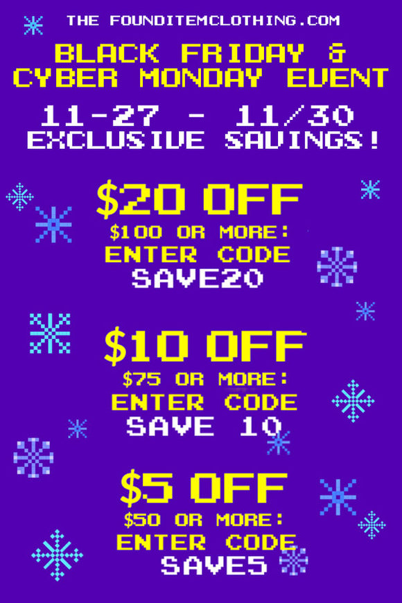 Black Friday / Cyber Monday discounts are here!