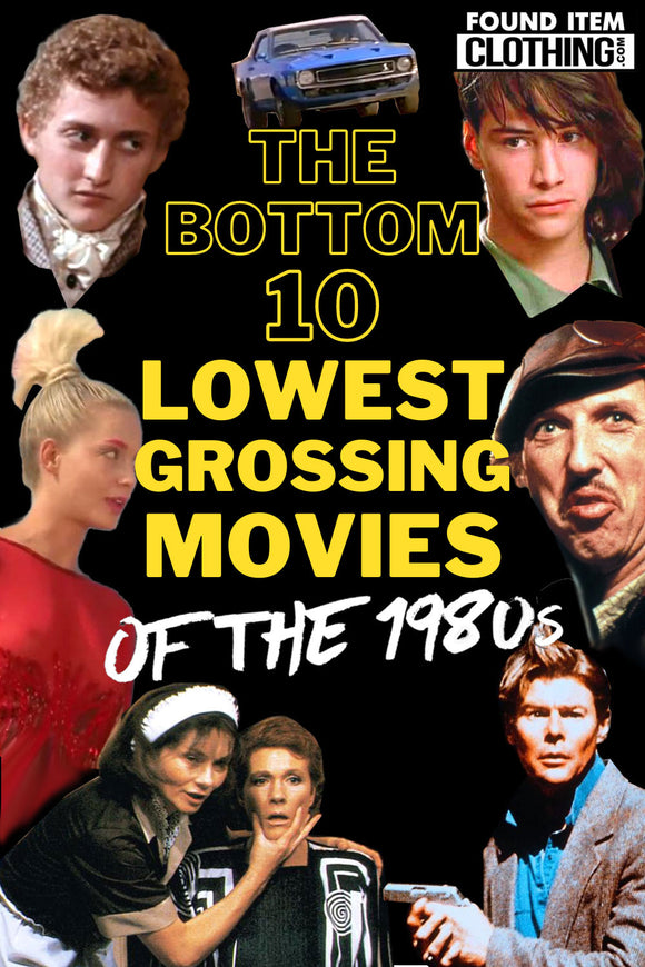 Bottom 10 Lowest Grossing Movies of the 1980s