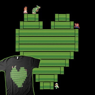 super mario pipe love shirt