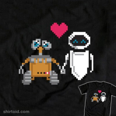 wall e eve pixals shirt
