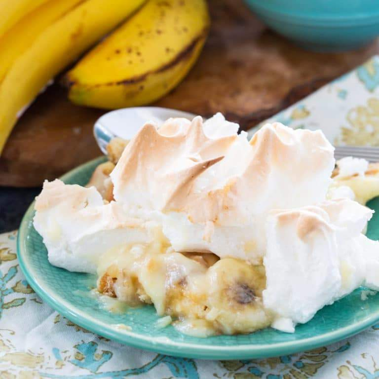 Banana Pudding with Meringue is an old-fashioned southern favorite