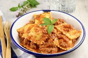 Ravioli Sauce is a quick and easy recipe made with ground beef, and tomato sauce, perfect for frozen or refrigerated ravioli