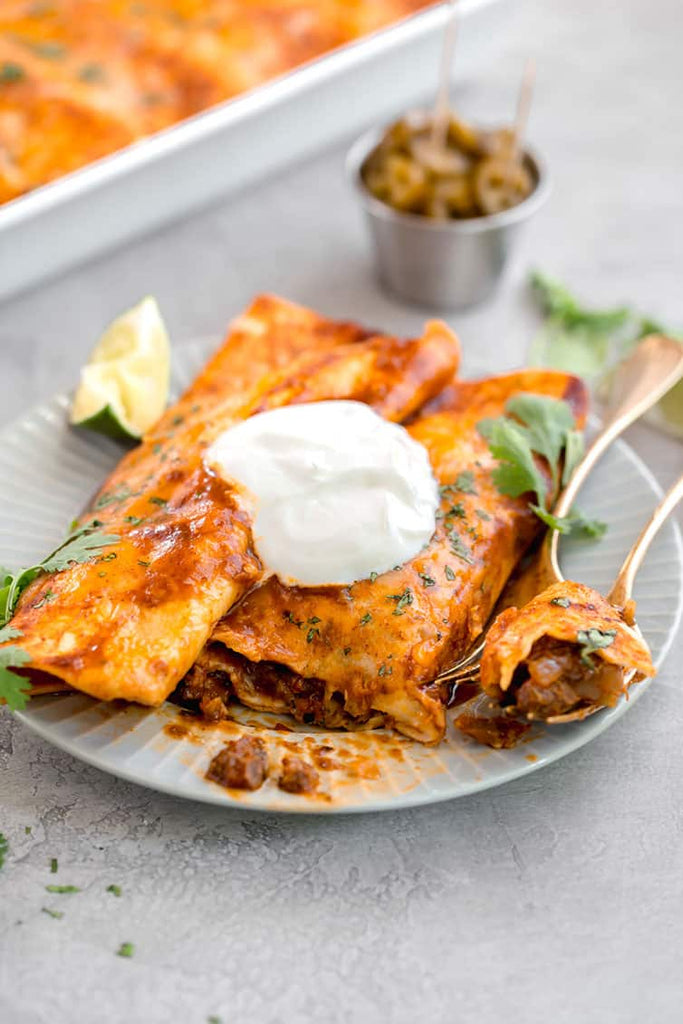 These beef enchiladas are Mexican comfort food at its finest