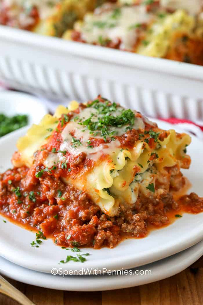Lasagna Roll Ups (Freezer Meal)