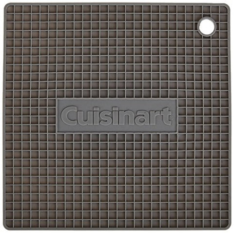 Cuisinart Multipurpose Silicone Kitchen Tool, Trivet/Pot Holder, Spoon Rest, Jar Opener, Coaster, Heat Resistant Pad, Gray