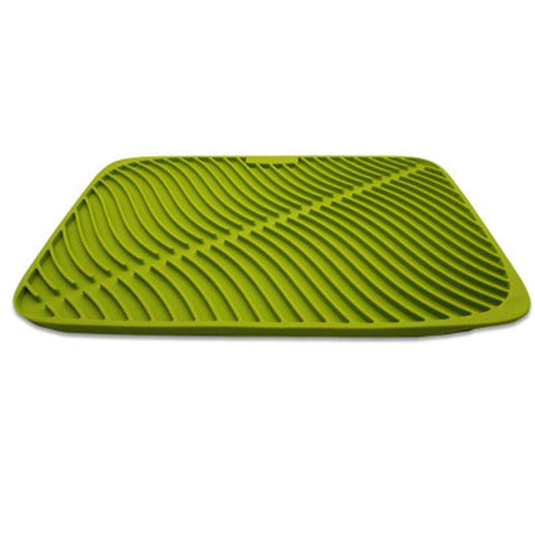 Silicone Drying Mat, Large Dish Mat Vinmax ''17''x''12''Silicone Counter Mat Spoon Rest Non Slip Thick Counter Mat,Dry Faster &Easy Letting The Water Out(Green)