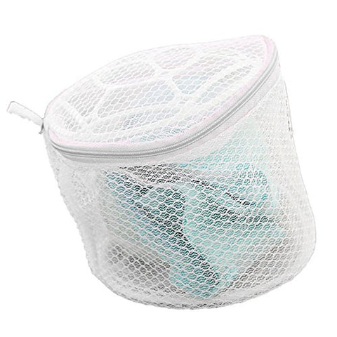 New Lingerie Underwear Bra Sock Laundry Washing Aid Net Mesh Zip Bag Rose (White)