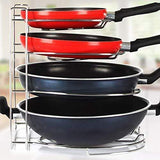 The best frying pan and pot organizer rack cookware holder caddy stainless steel 11 inch pack of 2