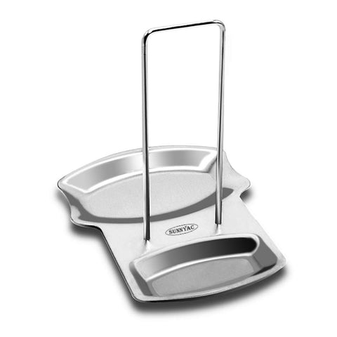 Sunnyac 2 in 1 Stainless Steel Utensil Rest Lid cook Spoon Holder , Kitchen Accessories Utensil Lid Holder , Dishwasher Safe .