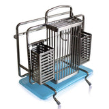 LPZ Stainless Steel Multi-function Knife Holder Knife Holder With Chopsticks Cage Plate Rack Kitchen Storage Rack LPZV