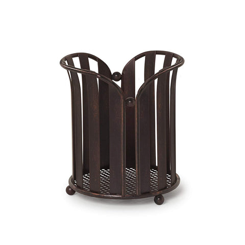 Spectrum Diversified Stripe Utensil Holder, Oil Rubbed Bronze