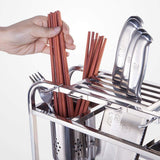 LPZ Stainless Steel Knife Holder Kitchen Shelf Cutting Board Storage Rack Chopsticks Tube Cutter Shelf LPZV