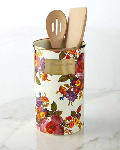 Flower Market White Utensil Holder, MULTI COLORS