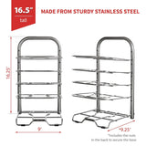 Related betterthingshome 5 tier height adjustable pan and pot organizer rack adjust in increments of 1 25 10 11 12 inch cookware lid holder stainless steel 16 5 tall