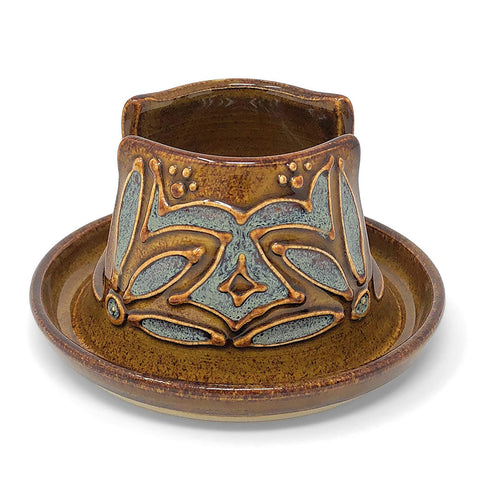 AshenWren Ceramics Sponge Holder, Amber