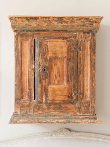Antique 18th Century Swedish Hanging Cupboard