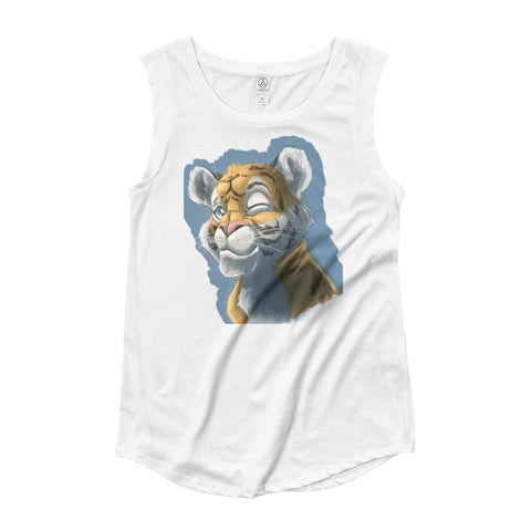 Kirin The Tiger(Women's figure) - T-shirt - White