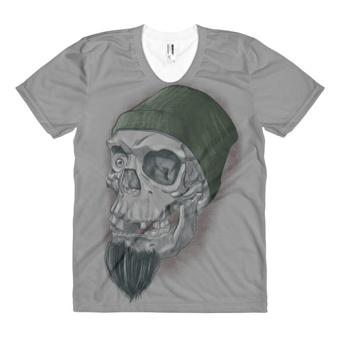 Women's Figure Skully From The Harbor - T-shirt - Front