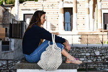 Load image into Gallery viewer, Macrame Handmade Shopper Tote Black - LuckyLuLuAust