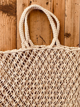 Load image into Gallery viewer, Macrame Handmade Shopper Tote Black